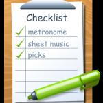 Guitar Practice Checklist