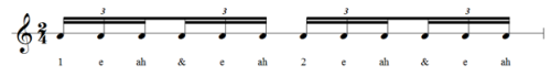 counting 16th note triplets in two four