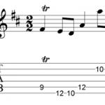 Bach gavotte 1 trill