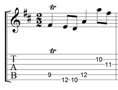J.S. Bach's Gavotte 1 trill