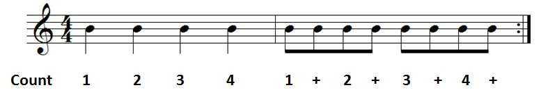 rhythm ex 1 8th notes