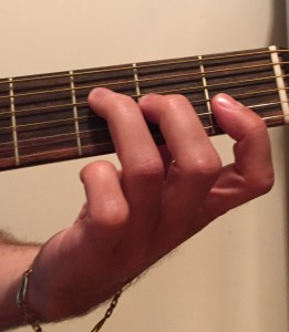F major partial barre chord photo